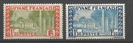 Guyane N° 125  Et 127      Neufs  * B/ TB .......   Soldé   à Moins De 20  % ! ! ! - Unused Stamps