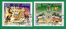 Bosnien Herzegowina Serb.Republik 2002   Mi.Nr. 241 / 242 A , EUROPA CEPT - Zirkus - Gestempelt / Fine Used / (o) - 2002