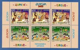 Bosnien Herzegowina Serb.Republik 2002   Mi.Nr. MH 241 / 242 D , EUROPA CEPT - Zirkus - Postfrisch / MNH / (**) - 2002