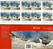 "NORUEGA/ NORWAY/ NORWEGEN/ NORVÈGE- EUROPA 2019 -NATIONAL BIRDS.-""AVES - BIRDS - VÖGEL -OISEAUX""- CARNET 10 V. -NUMERADO - 2019"