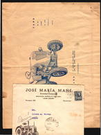 JOHN DEERE AND FAHR TRACTOR TRUCK AGRICULTURE CA1950 URUGUAY OLD ADVERTISING COVERS VERY UNUSUAL OLD (CAJAINGLESA) - Other (Earth)