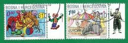 Bosnien Herzegowina Kroatische Post Mostar 2002   Mi.Nr. 88 / 89 , EUROPA CEPT - Zirkus - Gestempelt / Fine Used / (o) - 2002