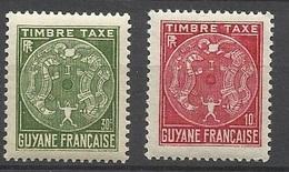Guyane Taxe  N° 22  Et  23     Palmiers  Neuf  * B/ TB .......   Soldé   à Moins De 20  % ! ! ! - Unused Stamps