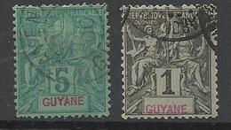 Guyane   N° 30  Et 33  Oblittérés   B/ TB .......   Soldé   à Moins De 20  % ! ! ! - Used Stamps