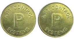 00014 GETTONE JETON TOKEN PARCHEGGIO PARKING PARKMUNZE A.P.T. CONTROL P SYSTEM - United Kingdom