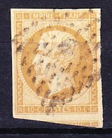 FRANCE NAPOLEON III 1853 YT N° 13A TYPE I Obl. LOSANGE (Filet Manquant à Droite) - 1853-1860 Napoleone III