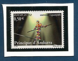 Andorra / Spanische Post  2002  Mi.Nr. 290 , EUROPA CEPT Zirkus - On Paper - Postfrisch / MNH / (**) - 2002