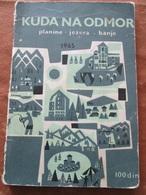 JUGOSLAVIJA, TOURIST DESTINATIONS  WITH MAP, 1965 - Books, Magazines, Comics