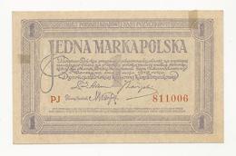 Poland??? 1 Marka 1919 Jedna???? Almost UNC - Poland