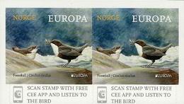 """NORUEGA/ NORWAY/ NORWEGEN/ NORVÈGE- EUROPA 2019 -NATIONAL BIRDS.-""""AVES - BIRDS - VÖGEL -OISEAUX""""-PAR HORIZONTAL-CARNET - 2019"""