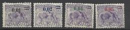 Guyane   Poste N° 91  à  94        Neufs  * *  Et Neufs *    B/ TB .......   Soldé   à Moins De 20  % ! ! ! - Unused Stamps