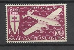 Guyane  Poste Aérienne  N° 27          Neuf  * *      B/ TB .......   Soldé   à Moins De 20  % ! ! ! - Unused Stamps