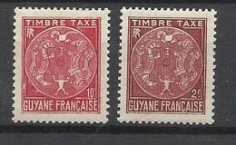 Guyane  Poste Aérienne  Taxe   22 Et 26      Neufs  * *      TB .......   Soldé   à Moins De 20  % ! ! ! - Unused Stamps