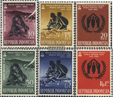 Indonesia 263-268 (complete Issue) Unmounted Mint / Never Hinged 1960 Refugee Years - Indonesia