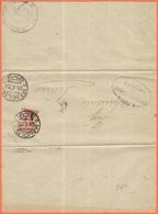 ITALIA - ITALY - ITALIE - 1922 - 20c - Isolato - Piego Manoscritto - Comune Di Manduria - Viaggiata Da Manduria Per Pesa - 1900-44 Vittorio Emanuele III