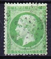 FRANCE NAPOLEON III 1862 YT N° 20 Obl. (Filet Manquant En Haut) - 1862 Napoléon III