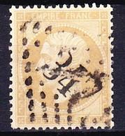 FRANCE NAPOLEON III 1862 YT N° 21 Obl. LOSANGE GC 347 LES BATIGNOLES - 1862 Napoleone III