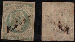 "A335. KOLUMBIEN - SC#: 32b. ANTIOQUIA STATE - 1882. MANUSCRIPT CANCEL ""RIONEGRO""- PAID PAPER - SCARCE - Colombia"