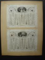 ALMANACH  1850 CALENDRIER 2 SEMESTRIELS Lithographie Allégorie  Plaisirs D'Hiver D'Eté  Arabesque  Impr Dubois -Trianon - Calendriers