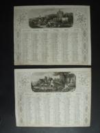 ALMANACH 1952 CALENDRIER 2 SEMESTRIELS  Lithographie Allegories Campagne Environ Grenobles Bayonne Dubois Trianon S4P4 - Calendarios