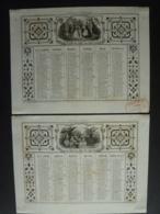 ALMANACH  1857 CALENDRIER 2 SEMESTRIELS Lithographie Allégorie  Présents Et Jeux   Arabesque  Impr Dubois -Trianon - Calendriers