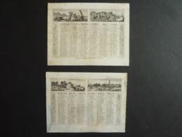 ALMANACH 1950 CALENDRIER  2 Semestriel  Litho Allégorie  Diverses Campagne, Marine Village  Edit Dubois Trianon  S 4 P 4 - Kalenders