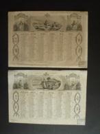 ALMANACH 1950 CALENDRIER  2 Semestriel  Litho Repos Des Moissonneurs Embarquement De La Bachelette  Edit Dubois Trianon - Calendriers