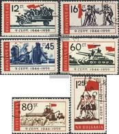 Bulgaria 1129-1134 (completa Edizione) Usato 1959 15. Anniversario Uprising - 1945-59 People's Republic