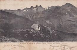 AIGUILLES D'ARVES ET REFUGE CESAR DURAND EN SAVOIE. CIRCULEE 1904 A L'ITALIE  - BLEUP - Aiguebelle