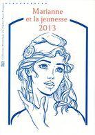 """"""" MARIANNE ET LA JEUNESSE 2013 """" Sur Document Philatélique Officiel 1er Jour De 4 Pages.  N° YT BS 133. DPO - 2013-... Marianne De Ciappa-Kawena"""