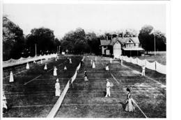 Tennis Game - Staten Island Cricket Club - Animated - Postcard By Alice Austen - 15 X 11 Cm - 2 Scans - Tennis