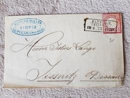 Deutsches Reich Brief Brustschild Eltville (Ellfeld) Nach Jessnitz Bei Dessau 1873 - Deutschland
