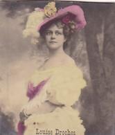 LOUISE DROCHES. COLORISE. COLLECTIBLE TOBACCO CARDS CIRCA 1915s - BLEUP - Célébrités