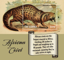 Gambia  2019    Fauna   African Civet   I201901 - Gambia (1965-...)