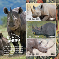 Gambia  2019    Fauna   Black Rhino   I201901 - Gambia (1965-...)