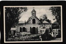 Nevis-Saint John's Church At Figtree 1910s - Antique Postcard - Saint Kitts E Nevis