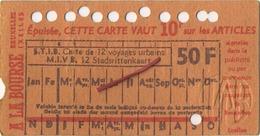 OLD TRAM Ticket  Brussel Bruxelles:Tramways -tramwegen De Classe:carte De 12 Voyages-reizen ( See Scans) 11.5 X 7 Cm - Non Classés