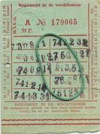 OLD TRAM Ticket   :Tramways -tramwegen De Classe:carte De  Voyages-reizen ( See Scans) 9 X 7 Cm ( Verso Blank ) - Non Classés