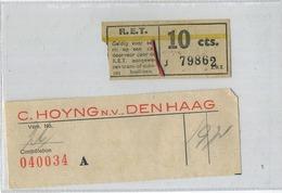 2  OLD TRAM Ticket   :Tramways -tramwegen NEDERLAND   ( See Scans) - Titres De Transport