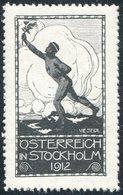 Austria 1912 STOCKHOLM Olympic Games Vignette Poster Reklamemarke Olympische Spiele Jeux Olympiques Österreich Autriche - Sommer 1912: Stockholm