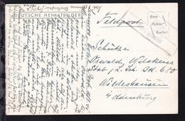 1941 R2 Lähn über Reutte Auf Feldpost-AK (Lermoos Hotel Post), Karte Min. Eckbug - Österreich