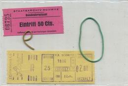 2  OLD TRAM Ticket   :Tramways -tramwegen SWISS  ( See Scans) - Transportation Tickets
