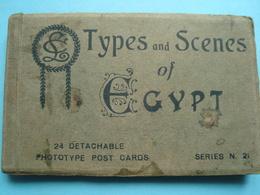 Egypte - Carnet De 19 Cartes Sur 24 - Types Et Scènes D'Egypte - Egypt