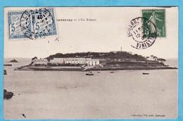 DOUARNENEZ Ile Tristan 1907 ( PETITES TACHES SINON TTB état) V318) - Douarnenez