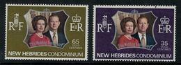 New Hebrides // 1960-1980 // 1972 // Noce D'argent Des Souverains Britanniques Timbres Neufs** MNH No. Y&T 356-357 - Légende Anglaise