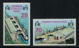 Nouvelles Hébrides // 1960-1980 // 1973 // Quai Public De Port-Vila Timbres Neufs** MNH No. Y&T 366-367 - Légende Française