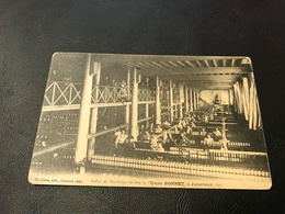 Atelier De Moulinage De Soie De L'Usine BONNET à JUJURIEUX - 1912 Timbrée Tampon Etablissement Les Petits Fils - Other Municipalities