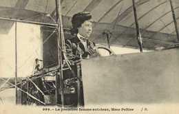 La Première Femme Aviateur , Mne Peltier RV - Aviateurs