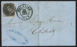 L. Affr. N°10A Margé Càd MOUSTIER/1859 Pour CHÂTELET (verso: Càd CHATELINEAU/1859) (Fabrique De Produits Chimiques De Mo - 1858-1862 Médaillons (9/12)