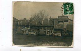 Carte Photo Coupée : Locomotive  Est Série 13     VOIR  DESCRIPTIF  §§§§§ - Trains